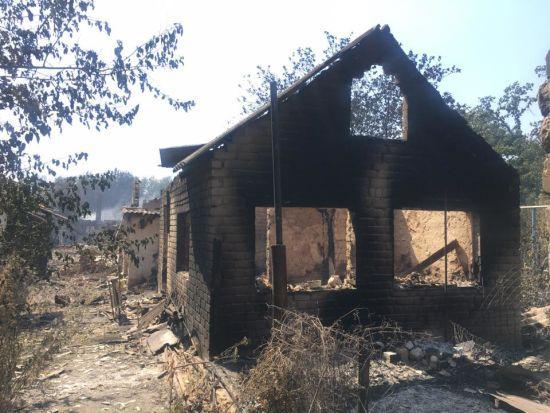 Журналістка показала фото наслідків жахливих пожеж у АТО, які знищують містечка і позиції