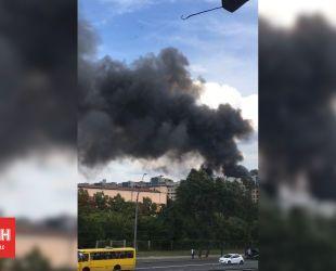 На Шулявці сталася потужна пожежа