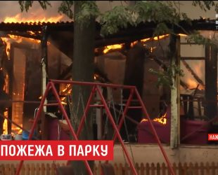 У столичному парку імені Пушкіна вигорів ресторан