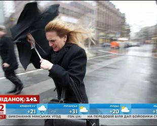В нескольких областях Украины объявлено штормовое предупреждение