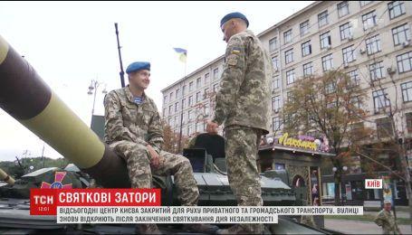 Військова техніка заполонила Хрещатик напередодні Дня Незалежності