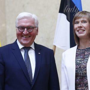 В красивом платье и с легким макияжем: образ президента Эстонии на торжественном мероприятии