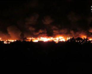 В Харькове удар молнии вызвал пожар в суде