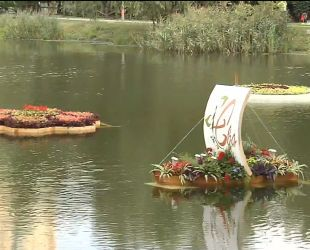 В парке Победы на столичной Дарнице появились клумбы на воде