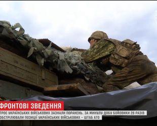 Троє українських військових отримали поранення на Східному фронті