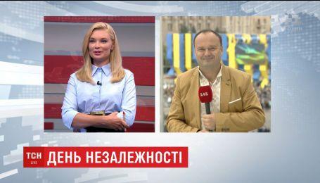 Парад на Майдане Независимости военные и зрители открыли гимном Украины