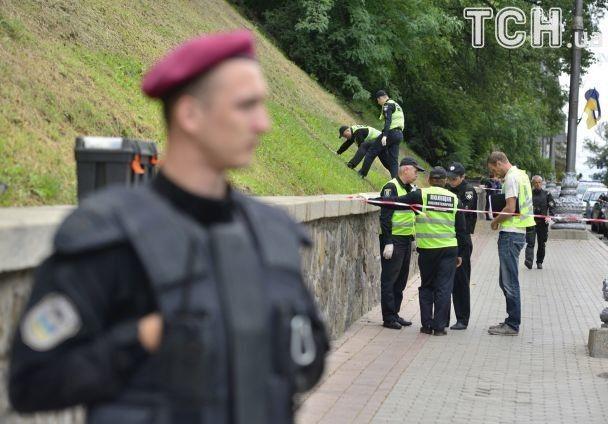 Вибух наГрушевського уКиєві: Турчинов таКнязєв прибули на місце інциденту