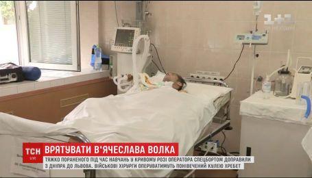 Тяжко поранений під час військових навчань В'ячеслав Волк потребує лікування в Ізраїлі