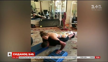 Дженнифер Лопес и ее любимый Алекс Родригес увлеклись парными тренировками