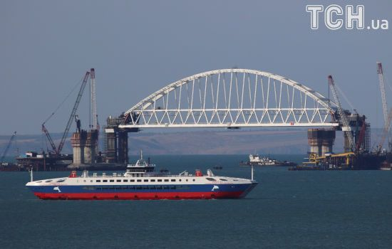Керченський міст вже з'єднав анексований Крим з Росією