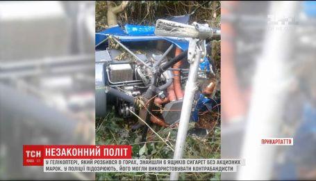 Вертолет, разбившийся в горах на Прикарпатье, мог быть предназначен для перевозки контрабанды