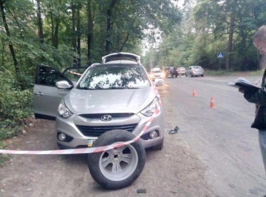 У поліції показали фото і розповіли подробиці зухвалого розбійного нападу на підприємця у Києві