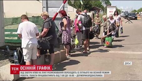 Контрольно-пропускні пункти на Донбасі переходить на зимовий час роботи