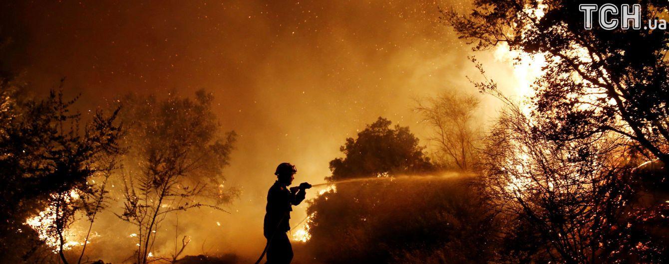 У США через лісові пожежі розпочали евакуацію