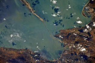 Російський космонавт похизувався фотографіями Керченського мосту, зроблених із МКС