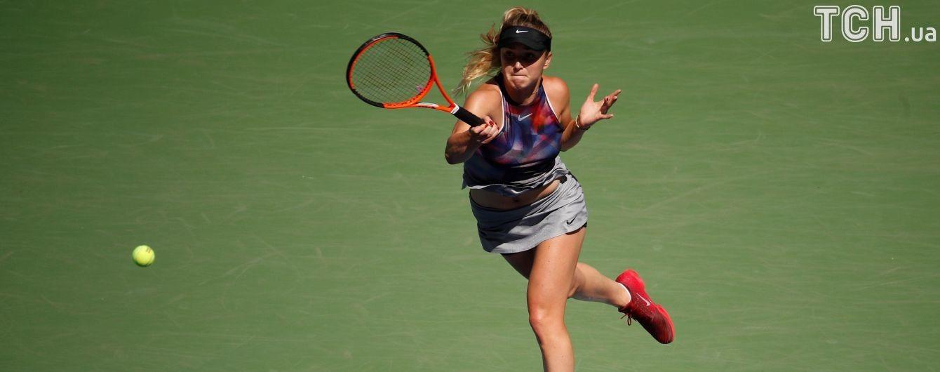 Світоліна вперше в кар'єрі пробилася до 1/8 фіналу US Open