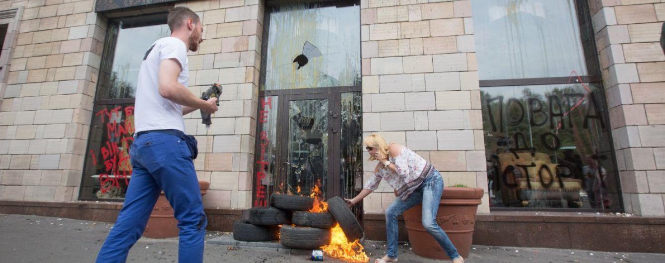 Автор граффити на Грушевского договорился с министром культуры о восстановлении картины