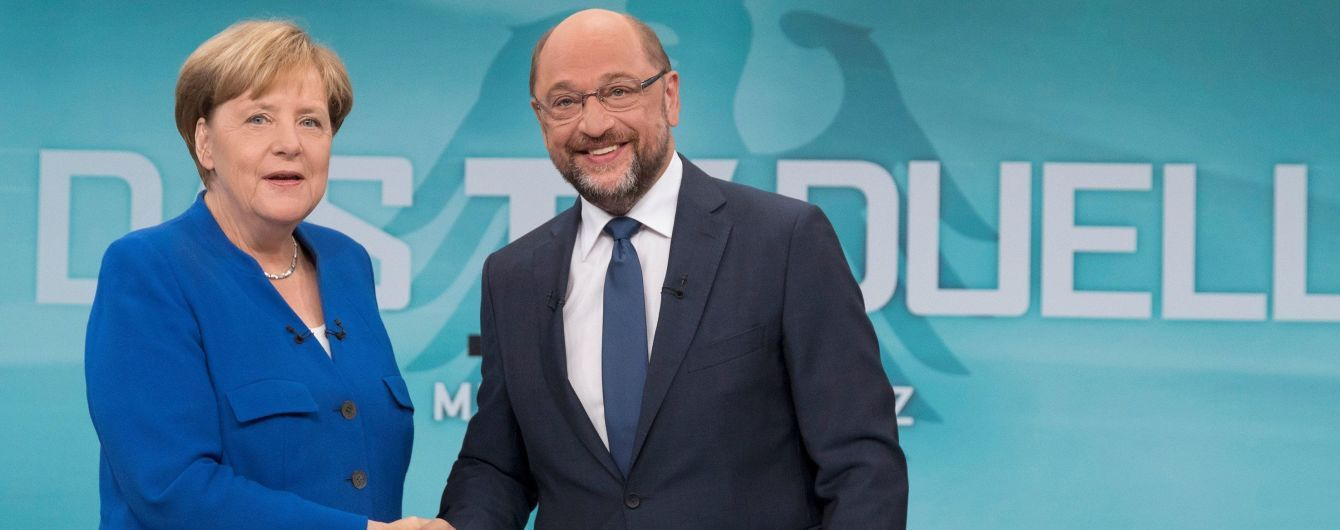 Меркель перемогла Шульца на вирішальних теледебатах перед виборами у Німеччині