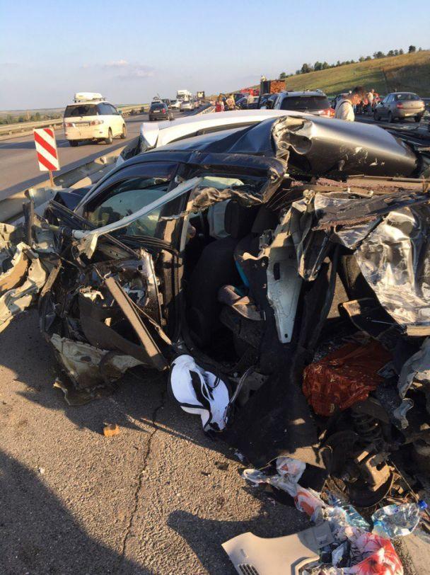 В РФ в результате масштабного ДТП столкнулись 33 автомобиля