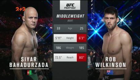 UFC. Сіяр Бахадурзада - Роб Вілкінсон. Відео бою