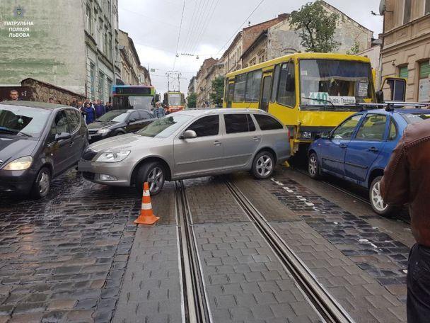 Масштабное ДТП во Львове: маршрутка не разминулась со встречным авто из-за отказа тормозов