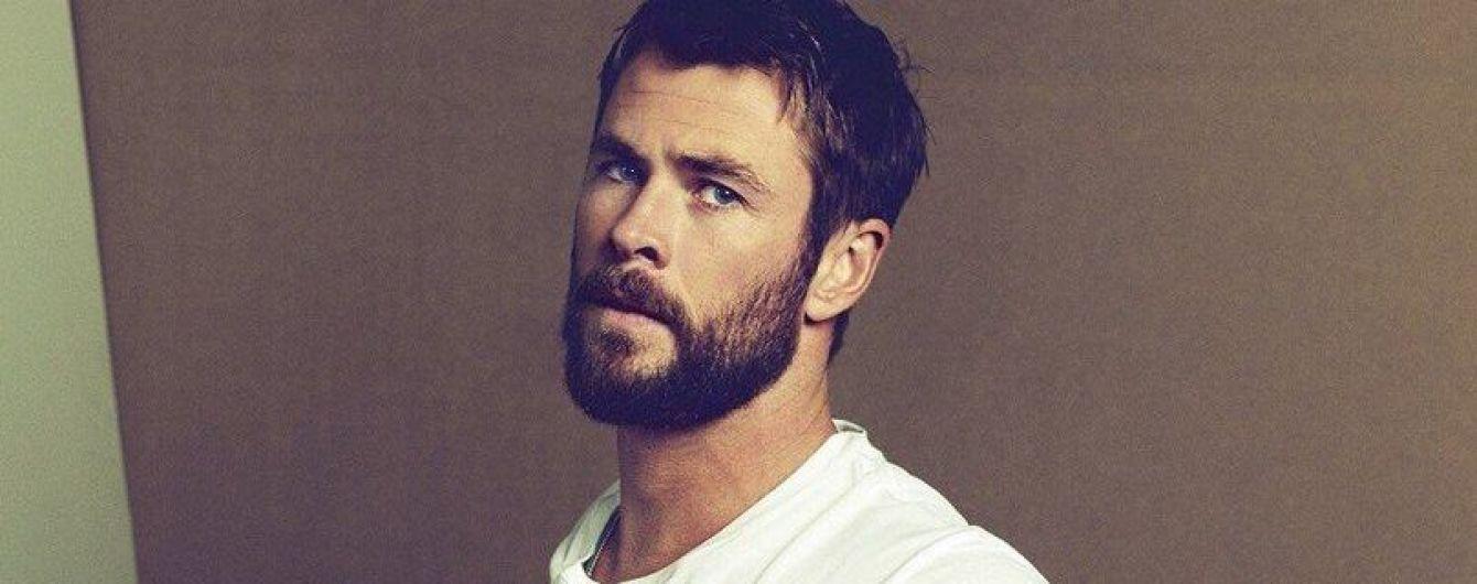 Брутальный и бородатый: Крис Хемсворт в новом фотосете для глянца