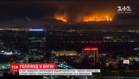В Лос-Анджелесе ввели чрезвычайное положение из-за масштабных лесных пожаров