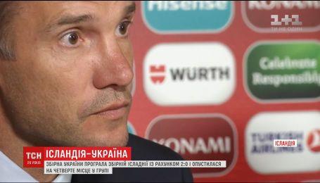 Сборная Украины на выезде проиграла команде Исландии