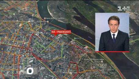 """Проїзд на усіх центральних напрямках столиці зупинився через протест власників """"євроблях"""""""