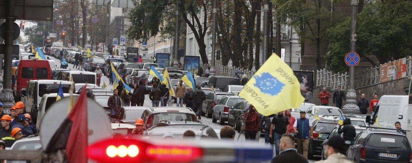 Затори не зникнуть: акція водіїв на іноземних номерах у Києві триватиме