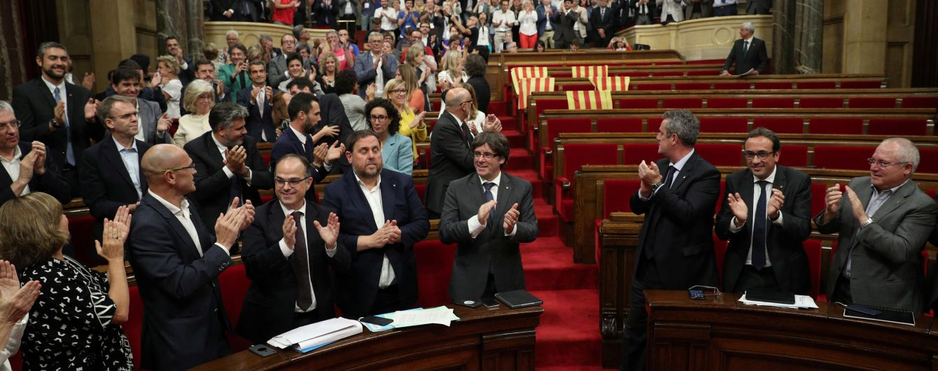 Парламент Каталонии проголосовал за референдум о независимости от Испании