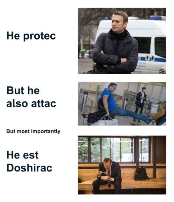 Сардельковий батл. Як у соцмережах жартують із інциденту з Навальним в аеропорту