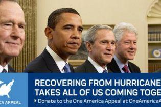 Без Трампа. П'ять екс-президентів США збирають допомогу постраждалому від буревію Техасу