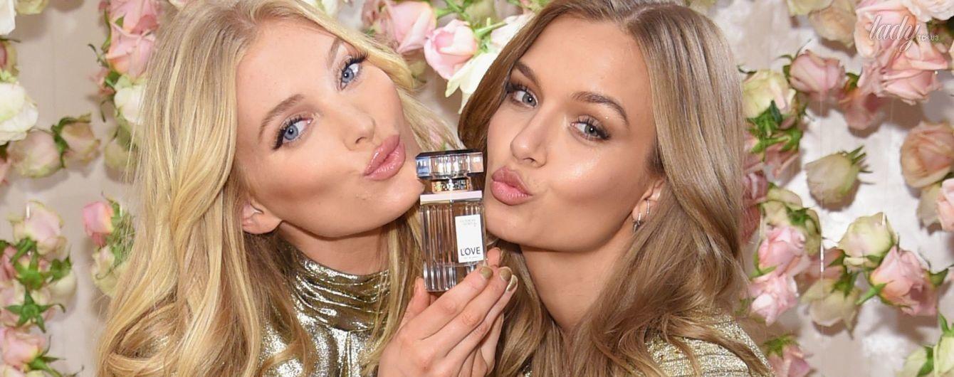 """Красотки в мини-платьях: """"ангелы"""" Эльза Хоск и Жозефин Скривер на презентации нового парфюма Victoria's Secret"""