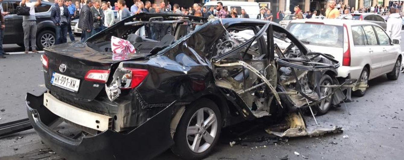 В центре Киева взорвалось легковое авто