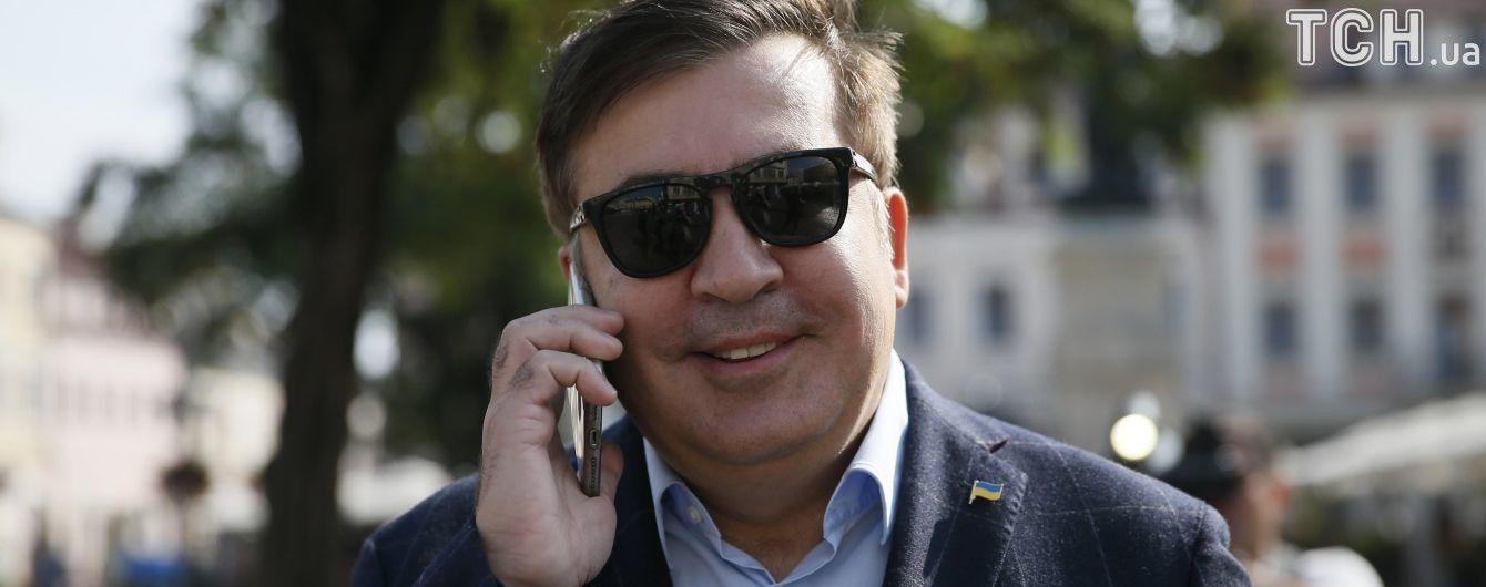 Саакашвили зашел в Украину без паспортного контроля и пешком уже прошел три километра