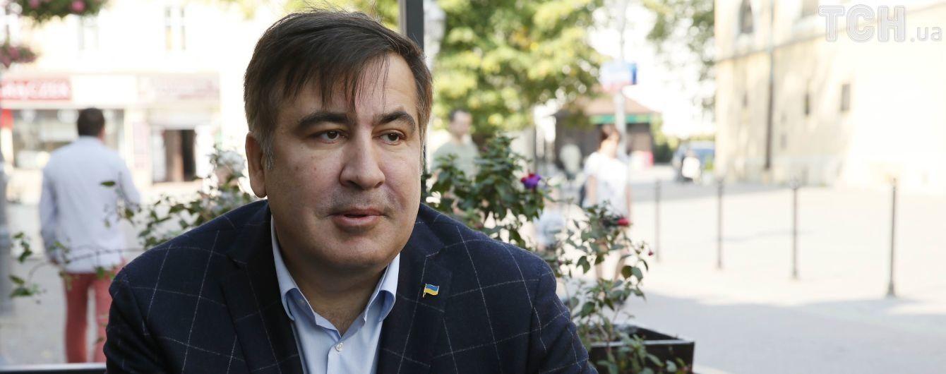 Саакашвили прошел контроль с польской стороны и застрял перед украинской границей