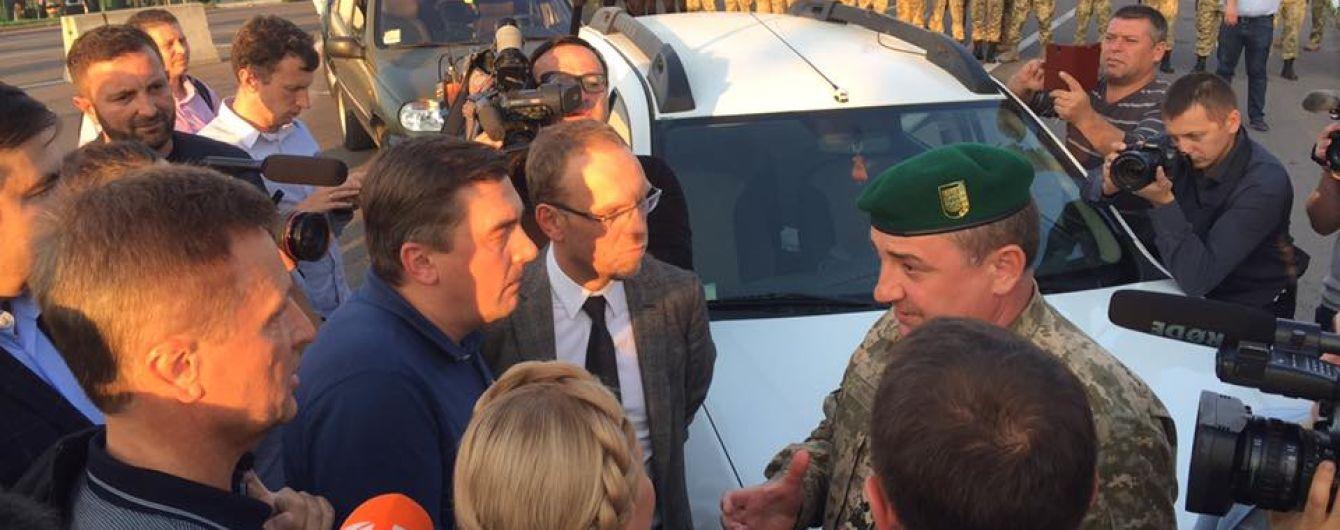 Прикордонники заявили про замінування пункту пропуску, на якому застряг Саакашвілі