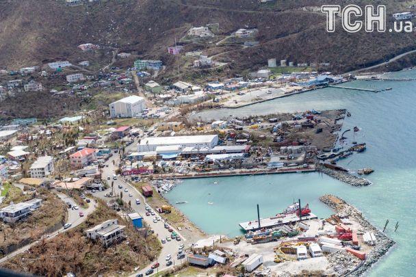 """У Мережі з'явилися фото спустошених після урагану """"Ірма"""" Віргінських островів"""