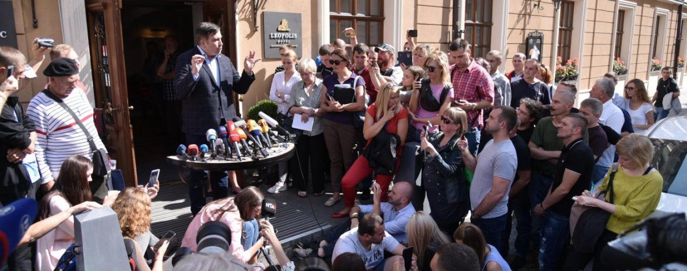 Жена Саакашвили с сыном приказала водителю ехать в аэропорт