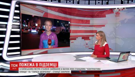 Чрезвычайники назвали причину задымления вагона в киевском метро