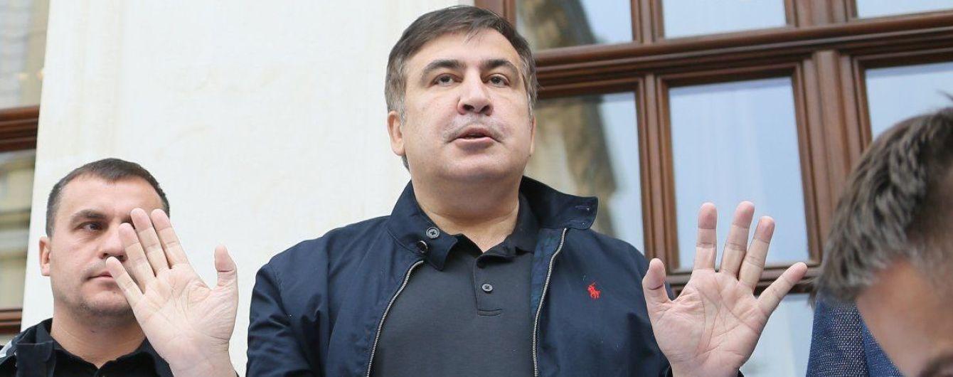 После выступления в Черновцах Саакашвили поехал в сторону румынской границы