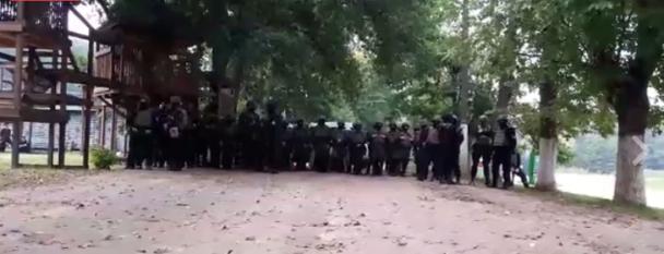 Люди Семенченка зібрались під Львовом біля Винниківського озера