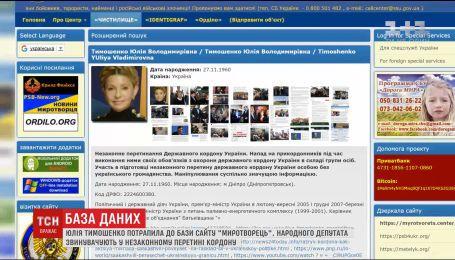 """Юлія Тимошенко та інші соратники Саакашвілі потрапили до бази сайту """"Миротворець"""""""