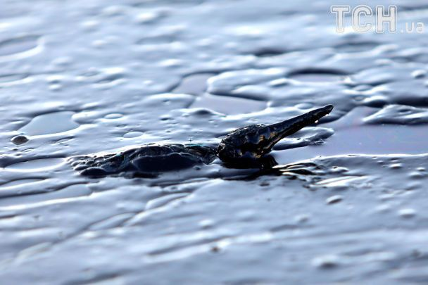 У Греції під воду пішов танкер, із якого море й пляж залило нафтою