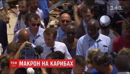"""Макрон відвідав зруйнований ураганом """"Ірма """" острів Сен-Мартен"""