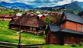 Чудеса України, про які ви не знали. Гуцульські хати-ґражди серед гір у Криворівні