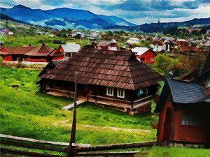 Чудеса Украины, о которых вы не знали. Гуцульские хаты-гражды среди гор в Криворовне