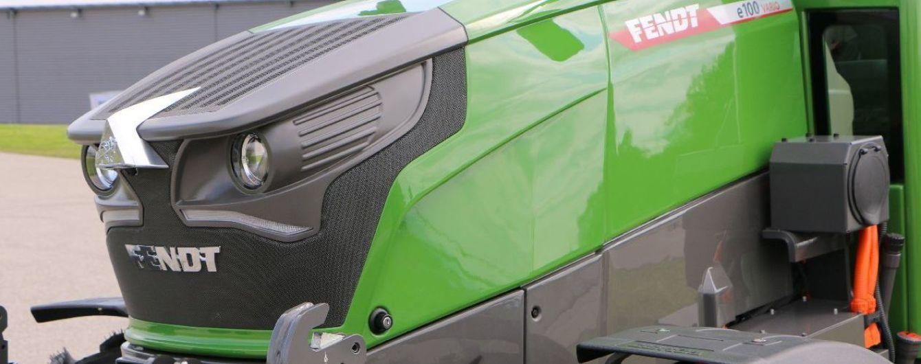 Fendt выпустил электрический трактор e100 Vario