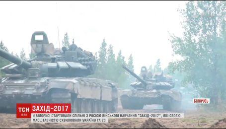 У границы Украины Россия с Беларусью начали масштабные военные учения